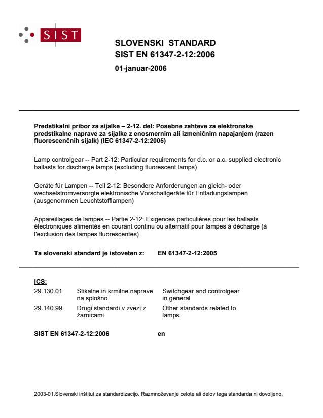 SIST EN 61347-2-12:2006