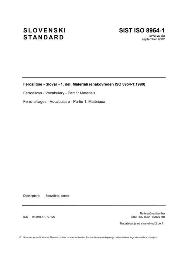 SIST ISO 8954-1:2002