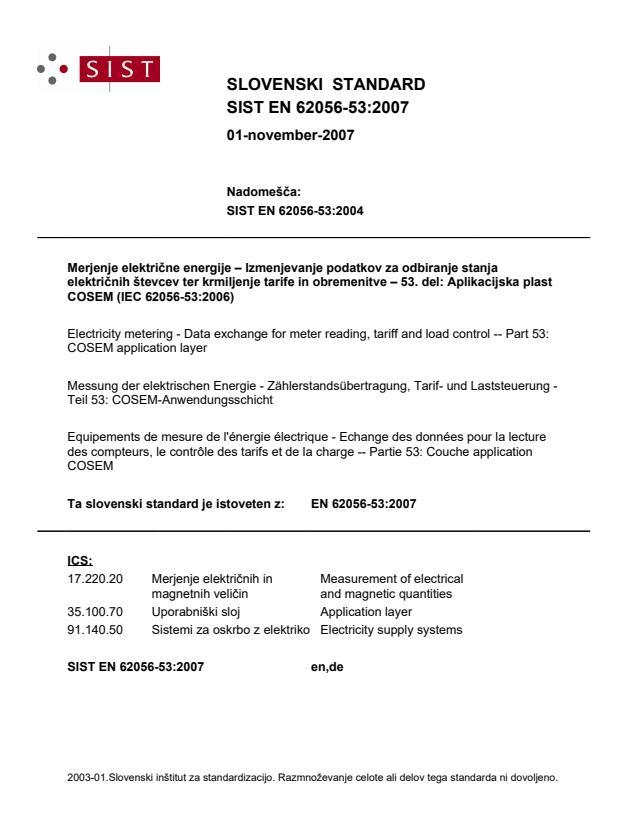 SIST EN 62056-53:2007