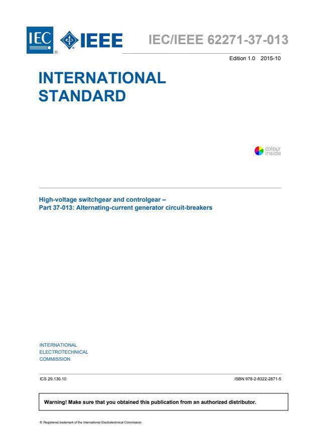 IEC/IEEE 62271-37-013:2015