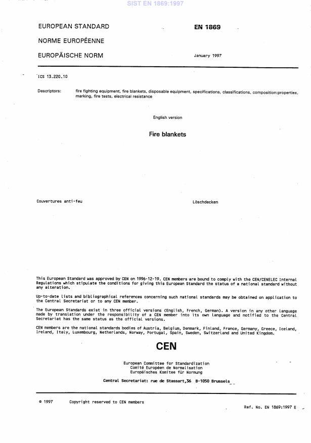 EN 1869:1997