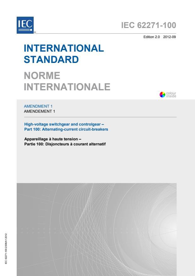 IEC 62271-100:2008/AMD1:2012