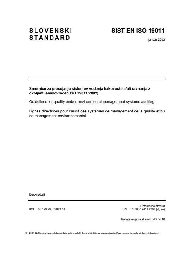 EN ISO 19011:2003