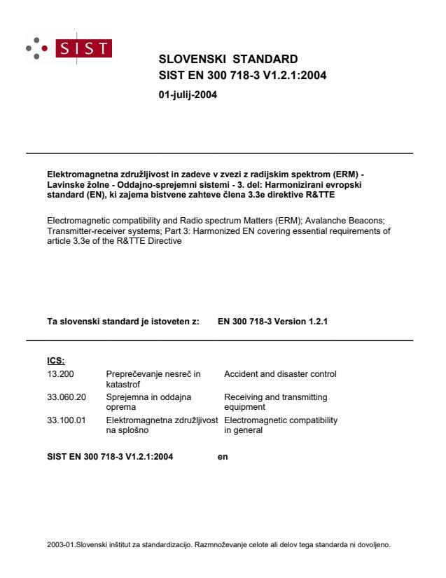 SIST EN 300 718-3 V1.2.1:2004