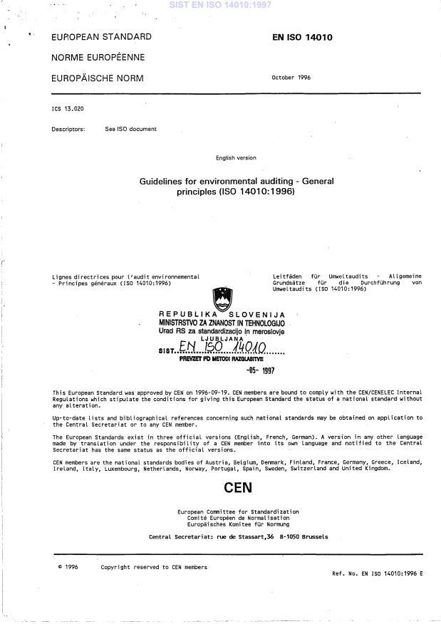 EN ISO 14010:1997