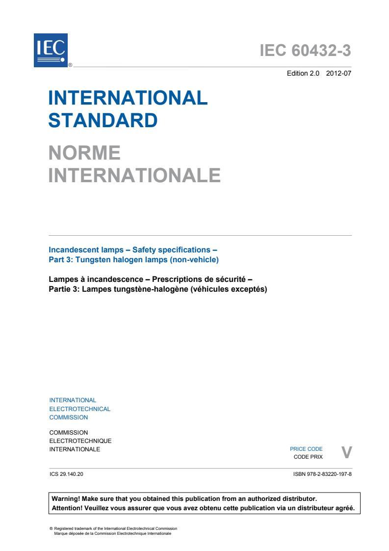 IEC 60432-3:2012