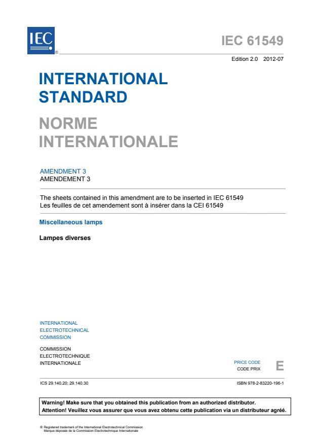 IEC 61549:2003/AMD3:2012