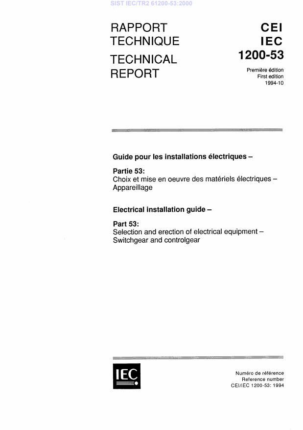 SIST IEC/TR2 61200-53:2000