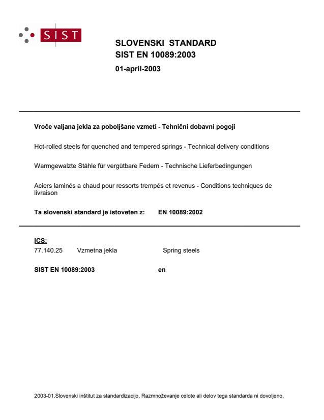 EN 10089:2002