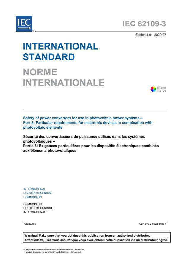 IEC 62109-3:2020