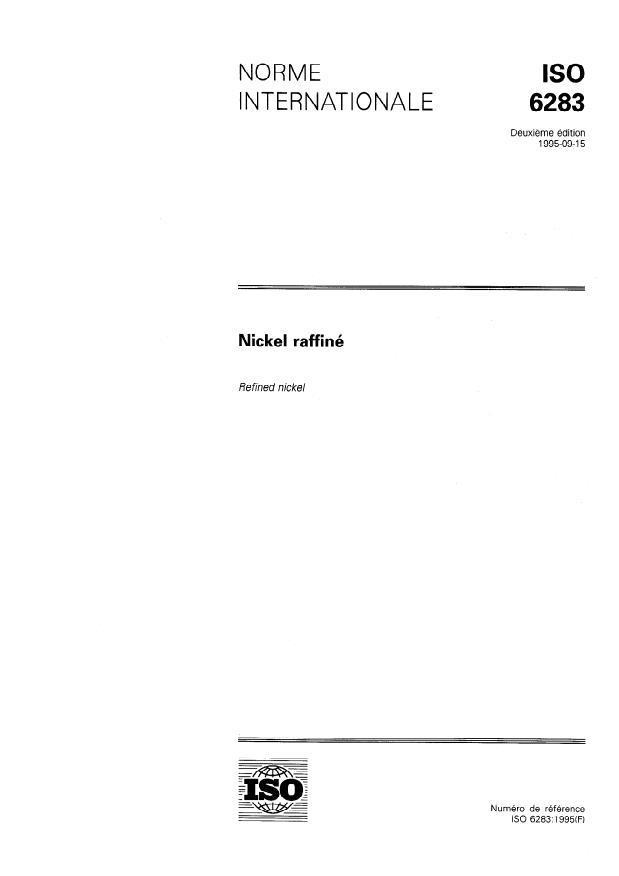 ISO 6283:1995 - Nickel raffiné