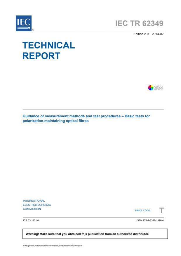 IEC TR 62349:2014