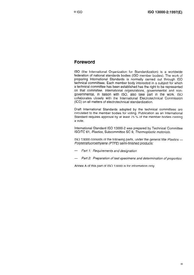 ISO 13000-2:1997 - Plastics -- Polytetrafluoroethylene (PTFE) semi-finished products