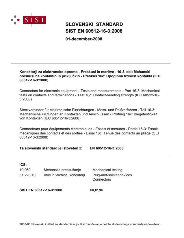 SIST EN 60512-16-3:2008
