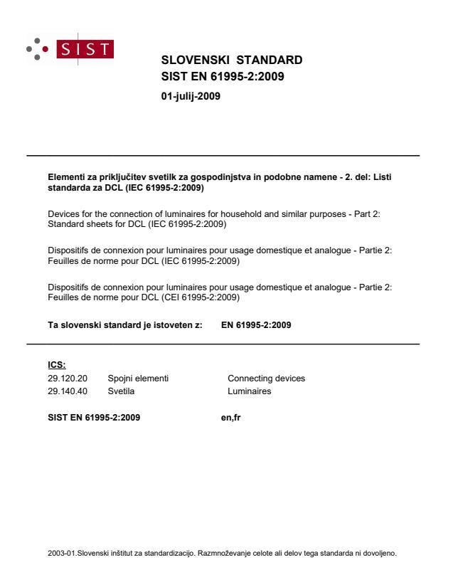 SIST EN 61995-2:2009