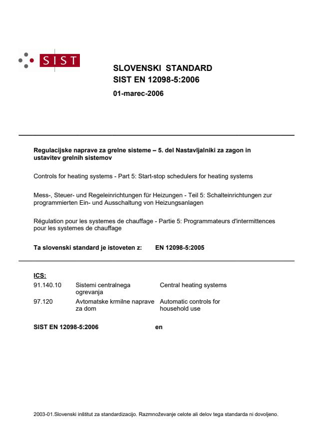 EN 12098-5:2006