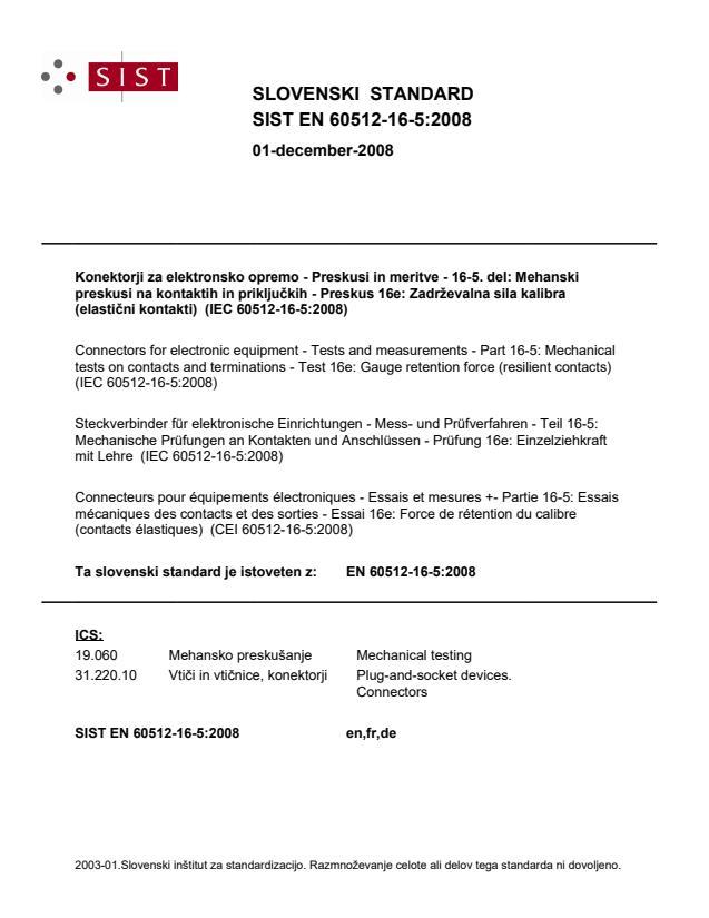 SIST EN 60512-16-5:2008
