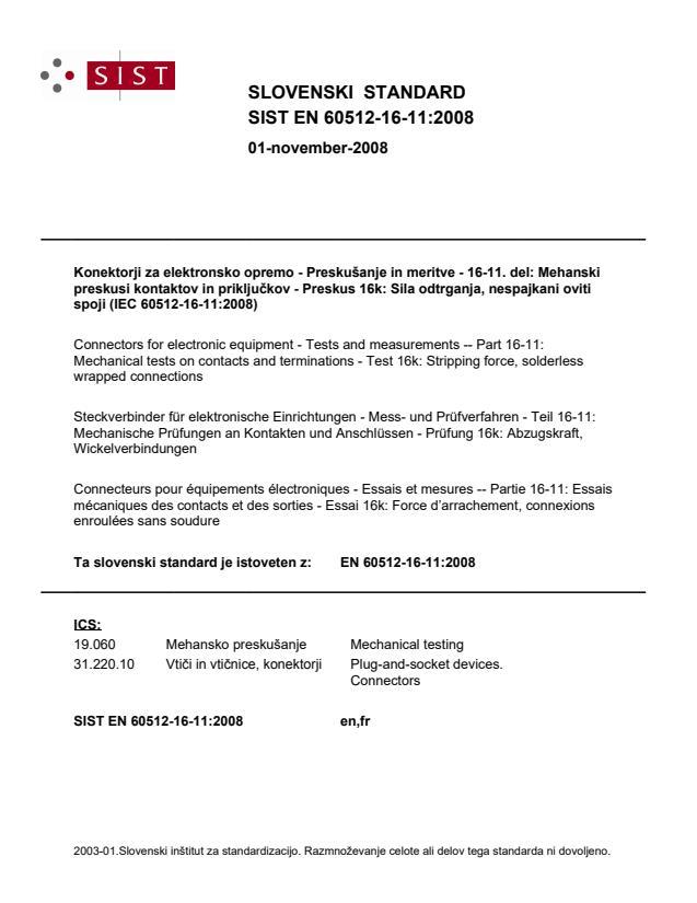 SIST EN 60512-16-11:2008