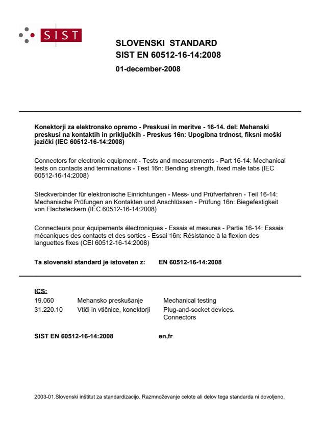 SIST EN 60512-16-14:2008