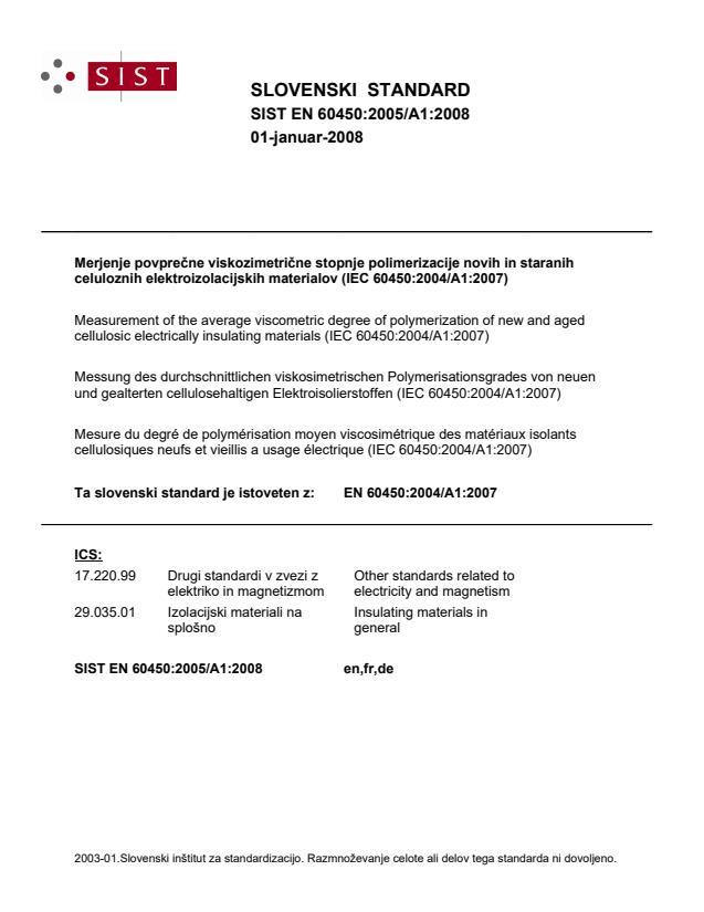 SIST EN 60450:2005/A1:2008