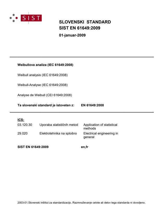 EN 61649:2009 - Standard ima barvne strani: PDF- 29-30!, natisnjeno za čitalnico (barvno)