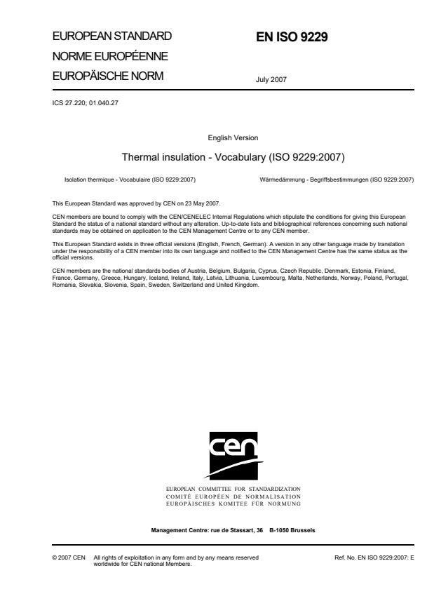 EN ISO 9229:2007