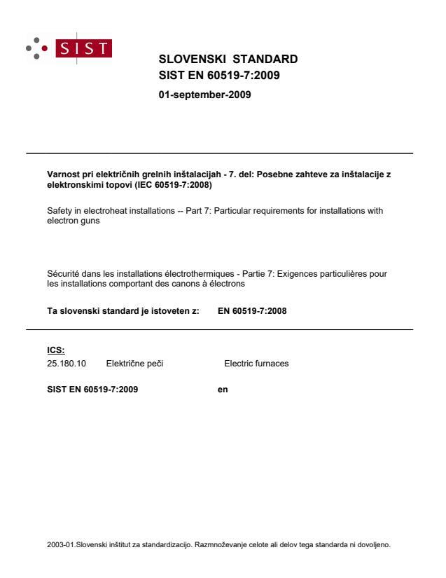 SIST EN 60519-7:2009