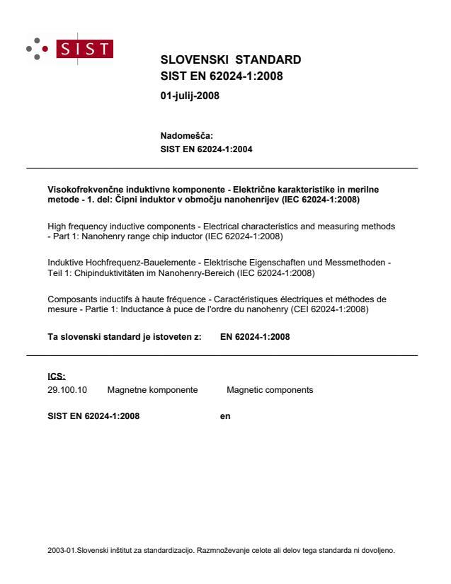 SIST EN 62024-1:2008