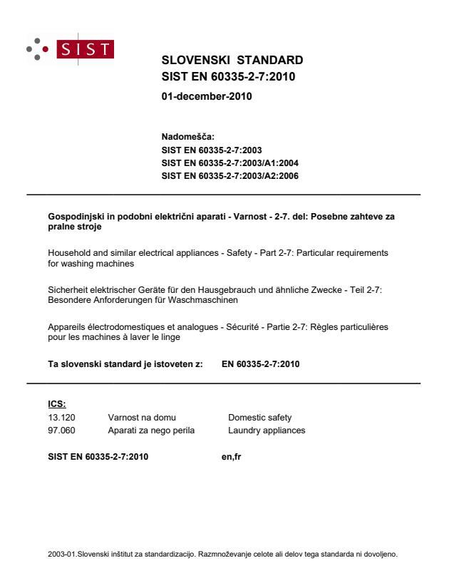 SIST EN 60335-2-7:2010