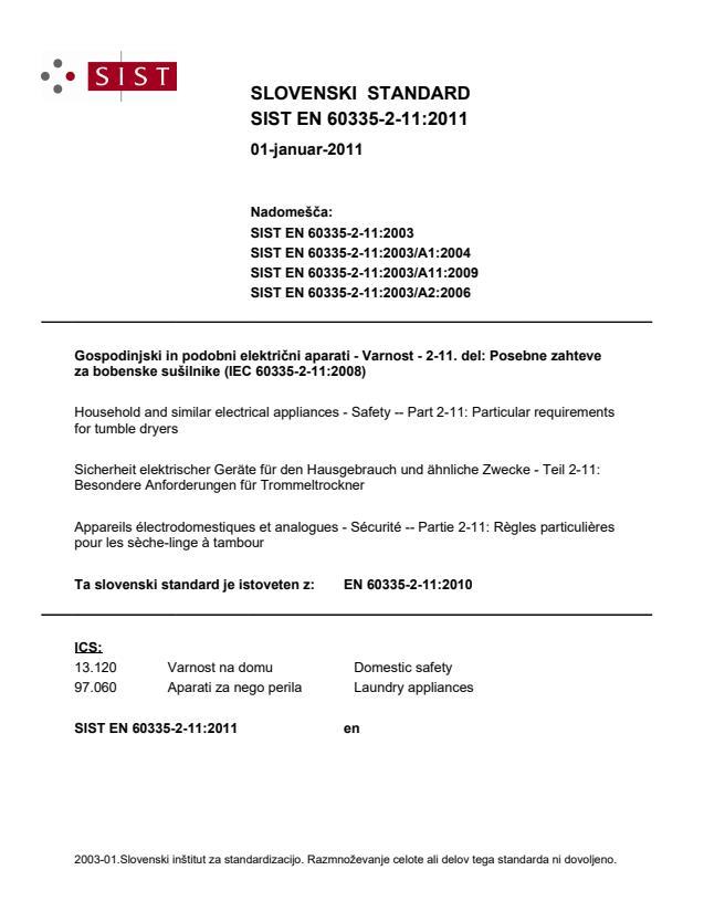 SIST EN 60335-2-11:2011