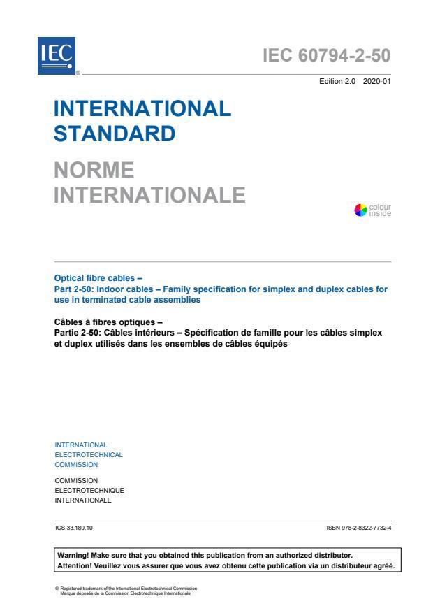 IEC 60794-2-50:2020