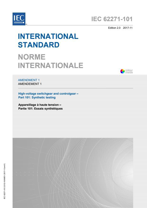 IEC 62271-101:2012/AMD1:2017