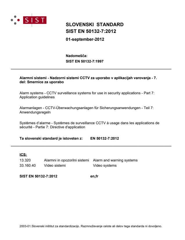 SIST EN 50132-7:2012 - BARVE na pdf straneh: 17, 53, 55, 56, 57, 58, natisnjeno za čitalnico