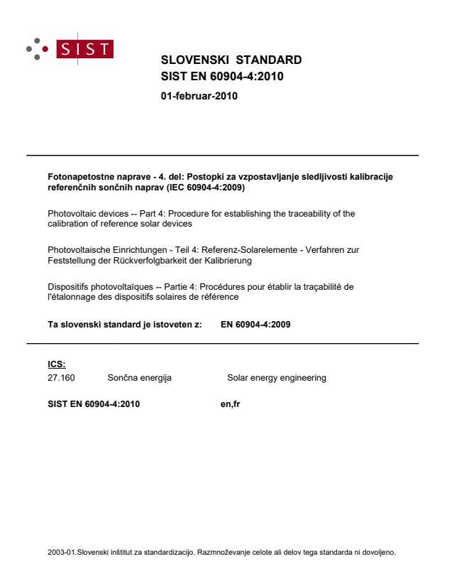 EN 60904-4:2010
