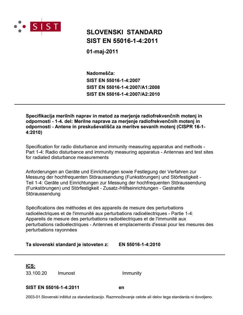 SIST EN 55016-1-4:2011