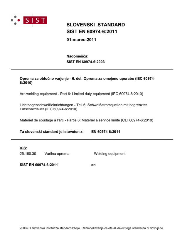 EN 60974-6:2011