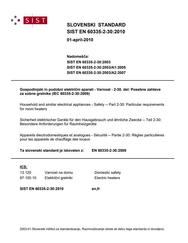 SIST EN 60335-2-30:2010