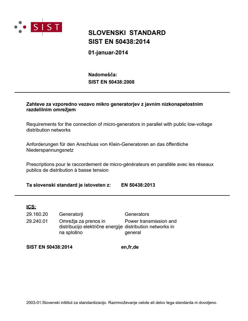 SIST EN 50438:2014 (EN) - BARVE na PDF-strani 12,17,20,26.
