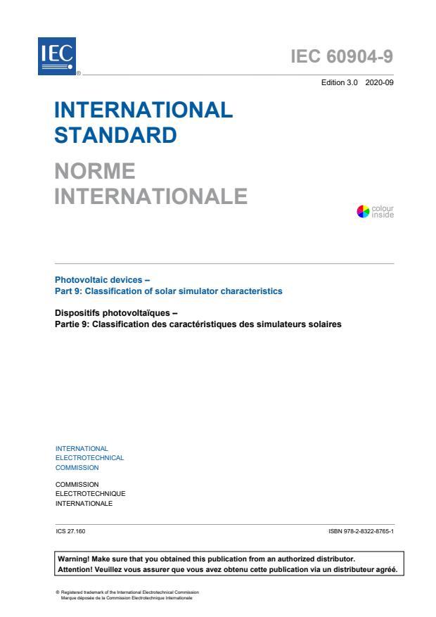IEC 60904-9:2020