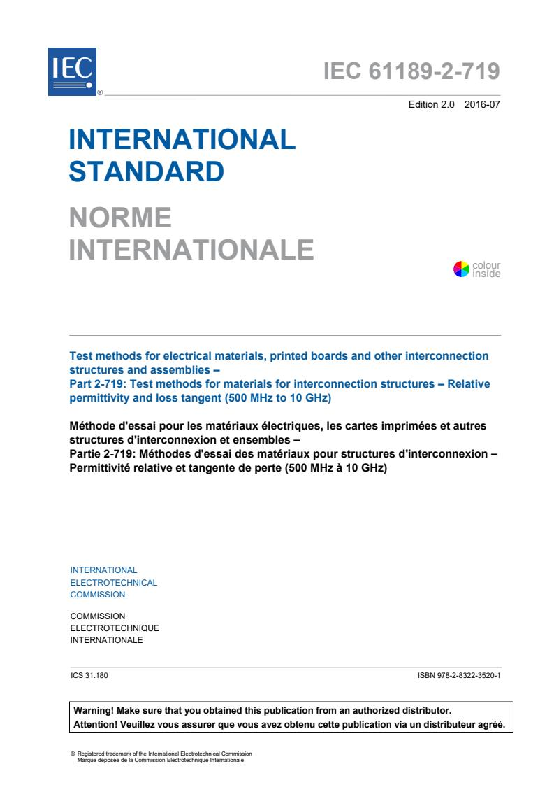 IEC 61189-2-719:2016