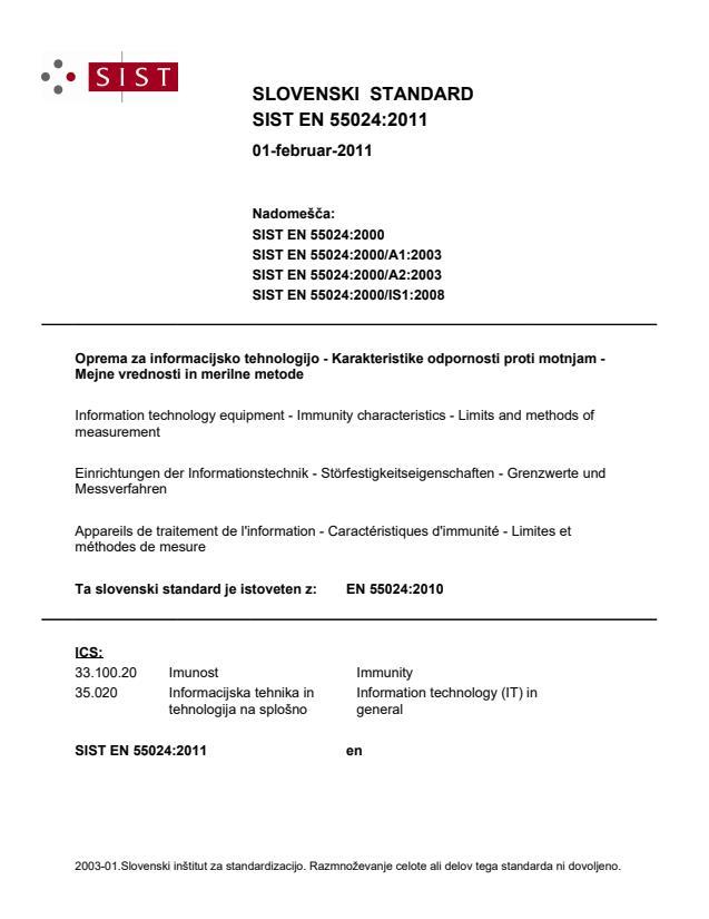 SIST EN 55024:2011