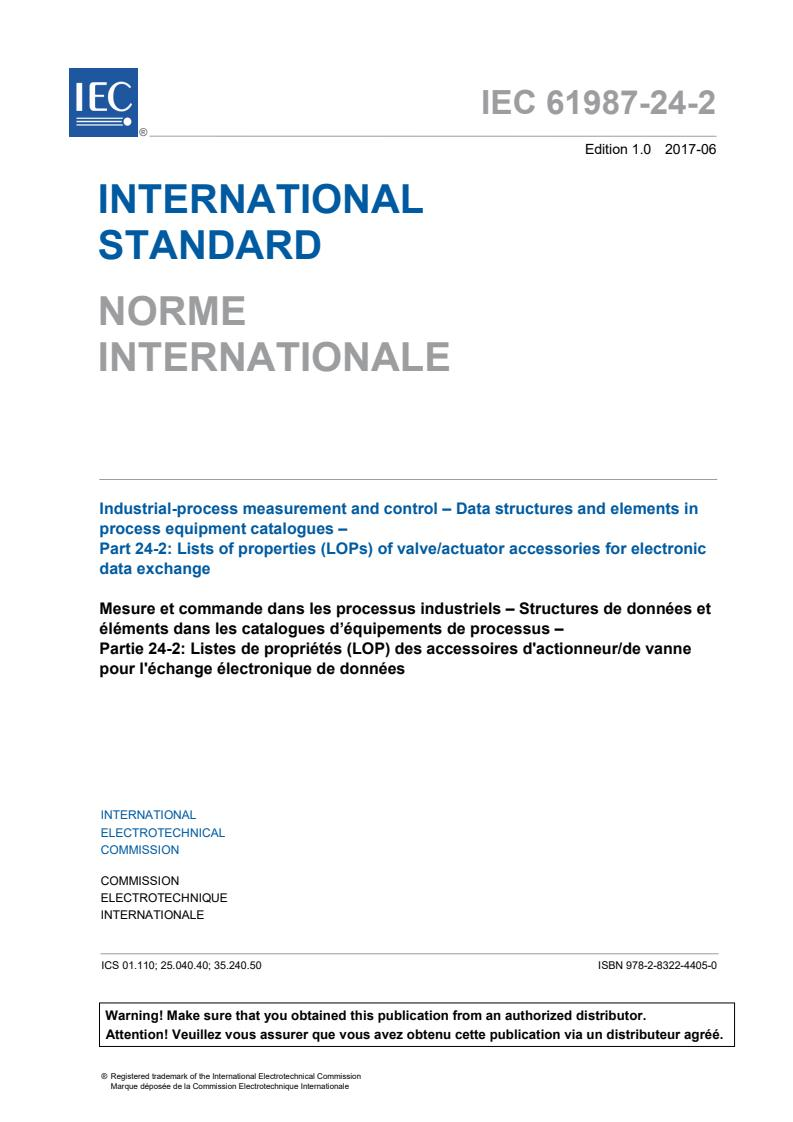 IEC 61987-24-2:2017