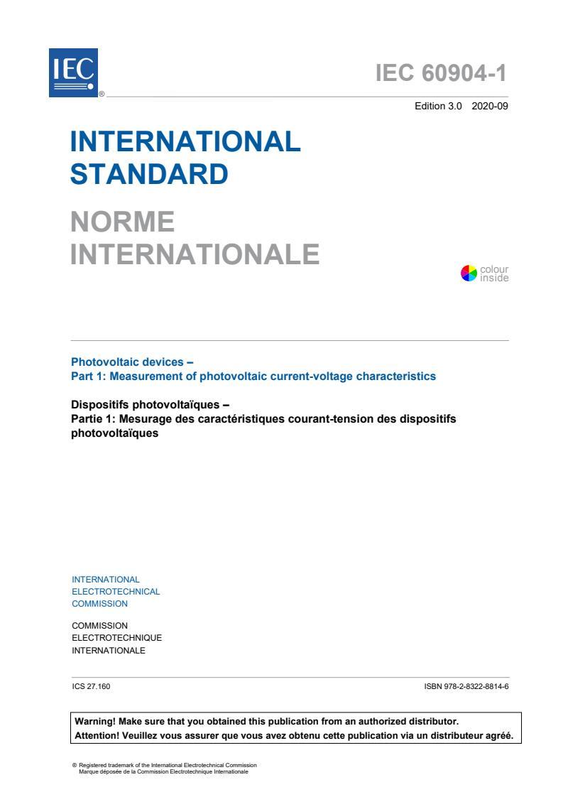 IEC 60904-1:2020