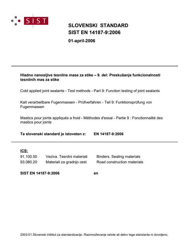 EN 14187-9:2006