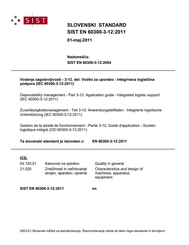SIST EN 60300-3-12:2011
