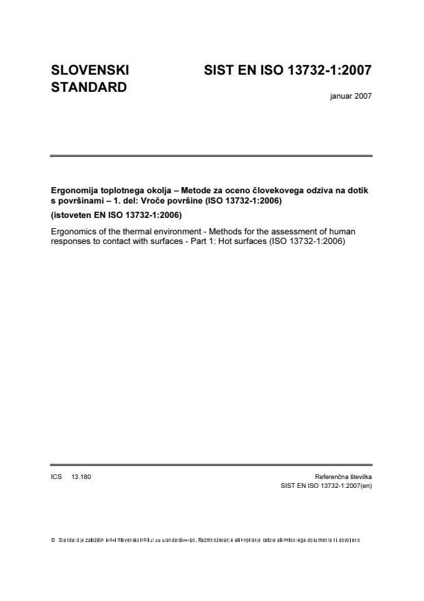 SIST EN ISO 13732-1:2007 - SIST