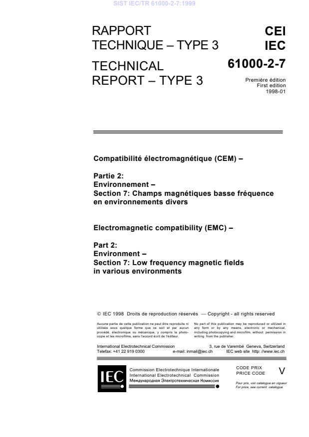 IEC/TR 61000-2-7:1999