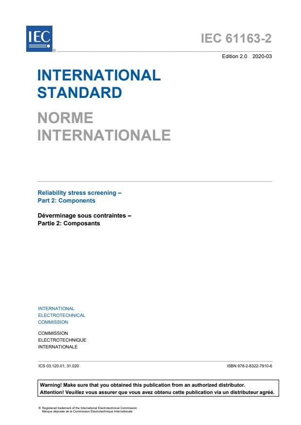 IEC 61163-2:2020