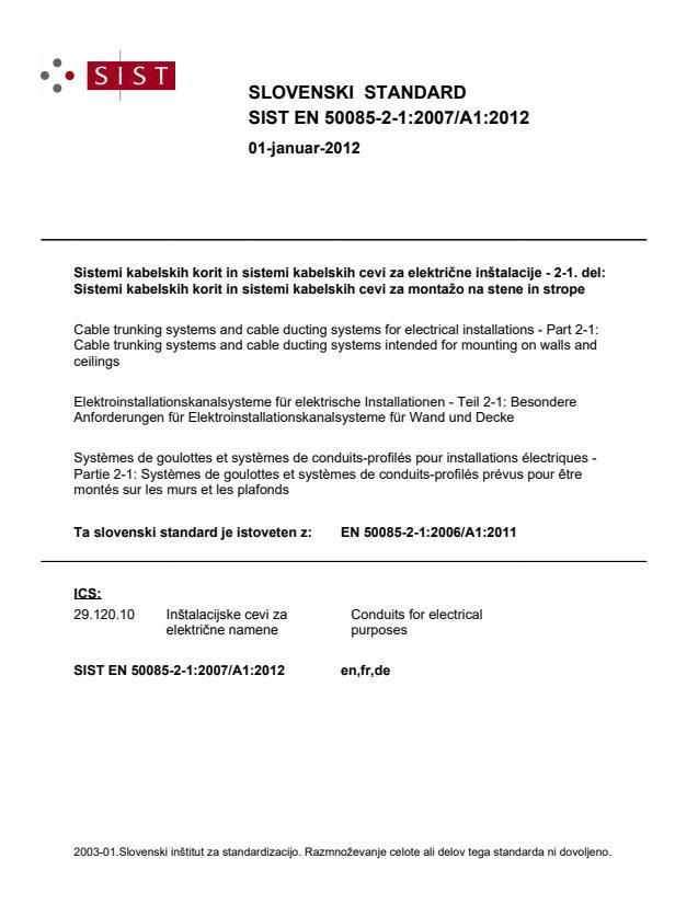 EN 50085-2-1:2007/A1:2012