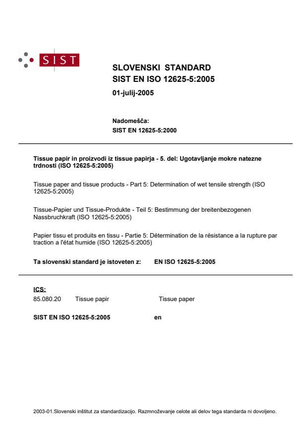SIST EN ISO 12625-5:2005